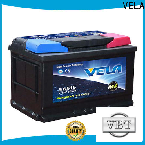 VELA durable automotive car battery widely employed for car industry