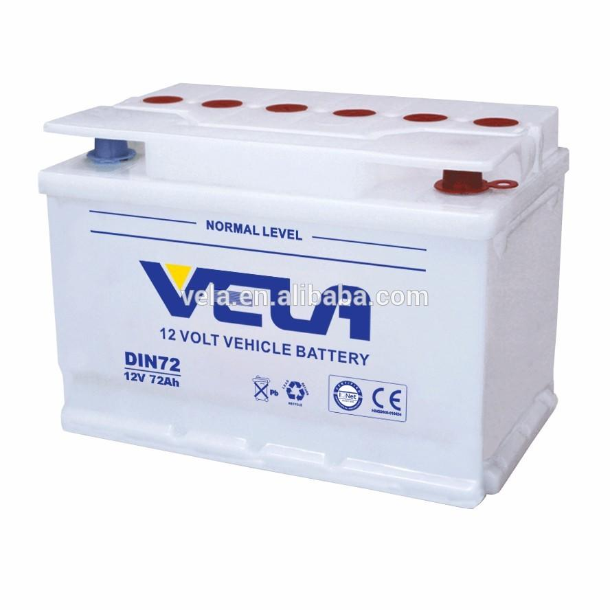 DIN72 12V72AH Dry Car Battery Start