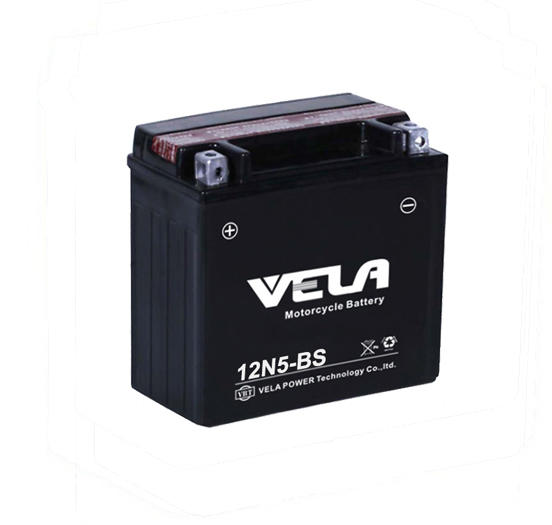 VELA 12N5-BS 12V 5Ah motorcycle battery factory price