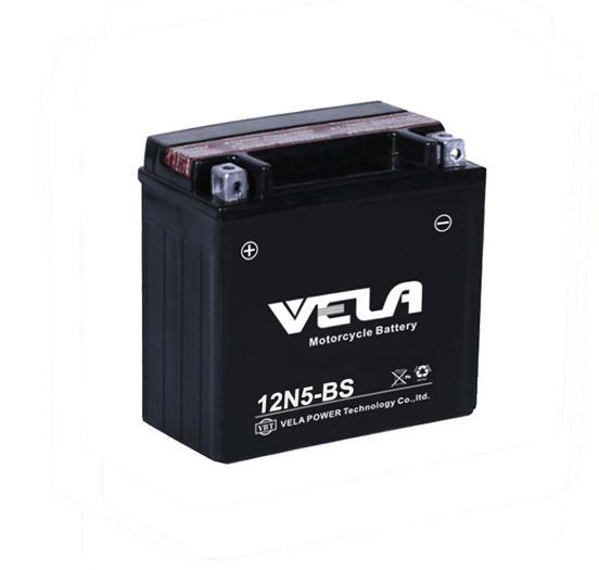 12N5-BS 12V 5Ah maintenance free motorcycle battery