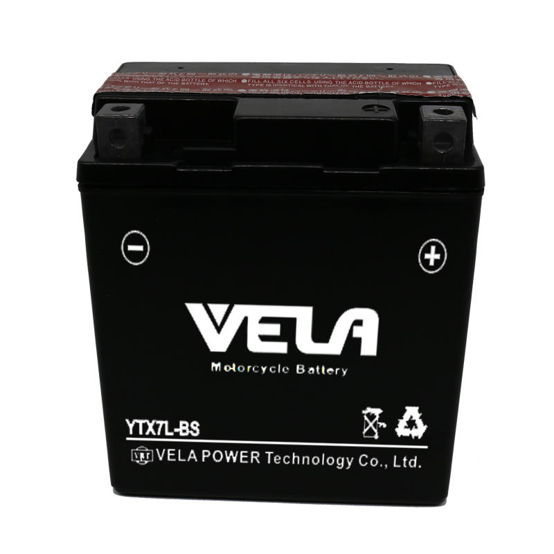 12V 7Ah battery YTX7L-BS motorcycle battery factory