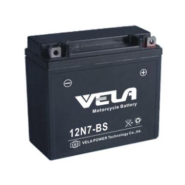 Motor batteries lead acid material 12V7Ah MF 12N7-BS motorcycle spare parts