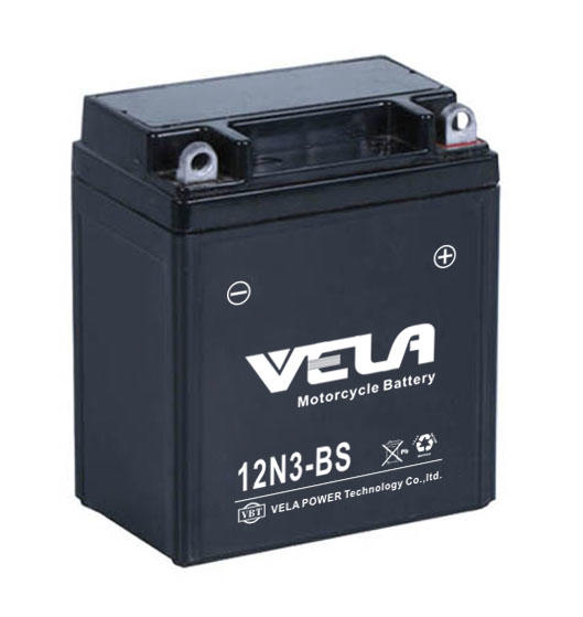 Professional Good quality 12v 3ah 12N3 bs mf motorcycle battery