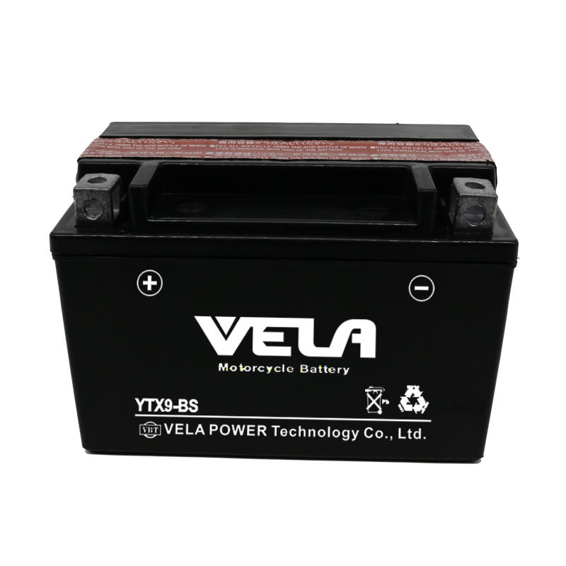 VELA Best Price YTX9-BS 12V 9Ah motorcycle battery Wholesale
