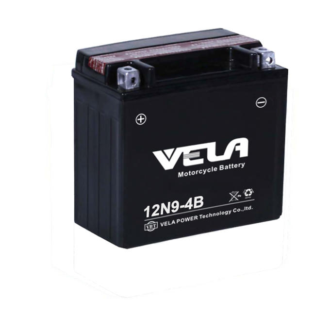 Hot sales 12N9-BS 12V 9Ah dry charged maintenance free motorcycle battery