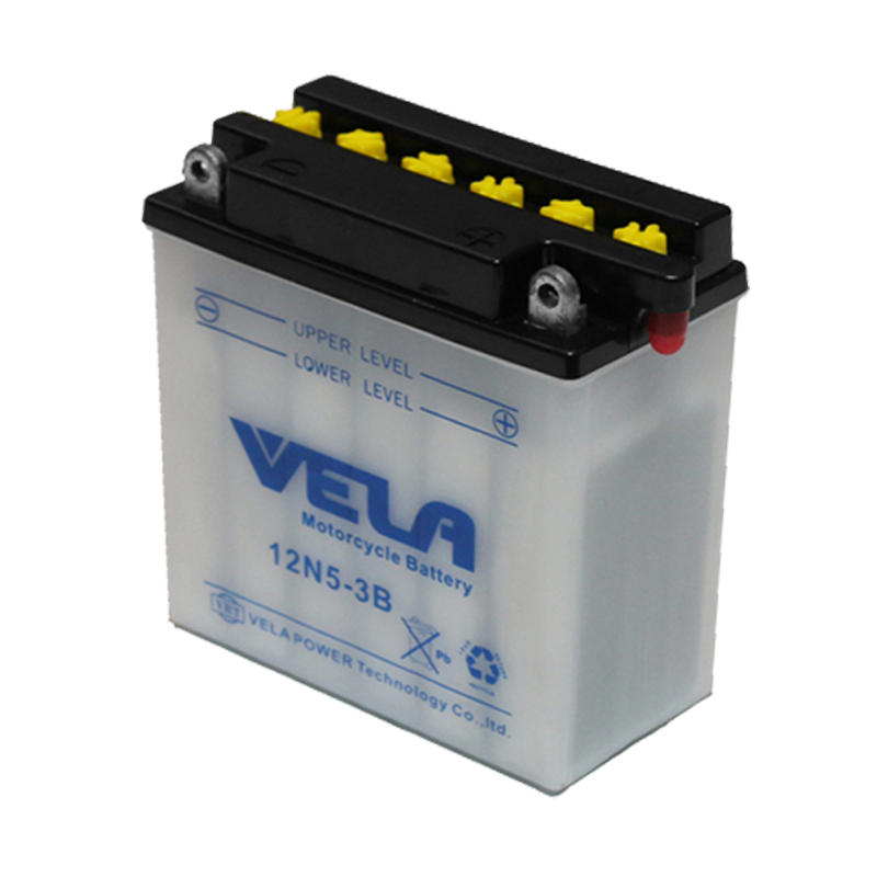 Dry battery for motorcycle 12v 5Ah motorcycle battery 12N5-3B