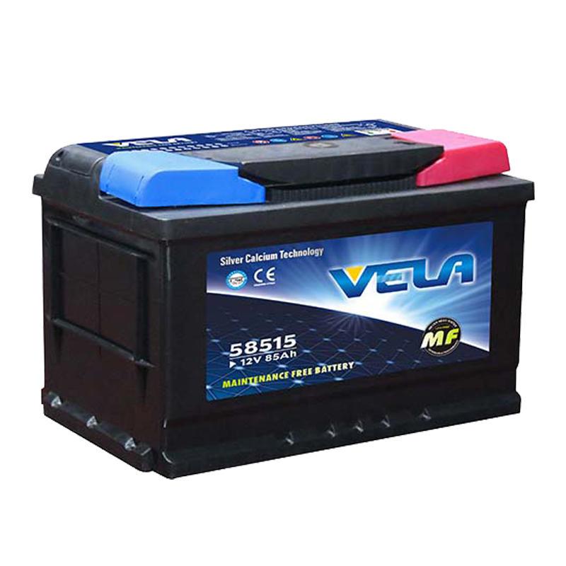 DIN85L12V 85Ah maintenance free car battery