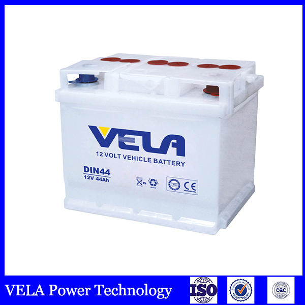 Dry charged battery 12V 44Ah DIN44L