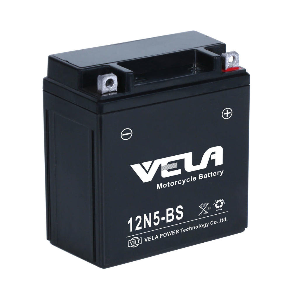 12n5-bs 12v5ah Rechargeable Lead Acid Motorcycle Battery