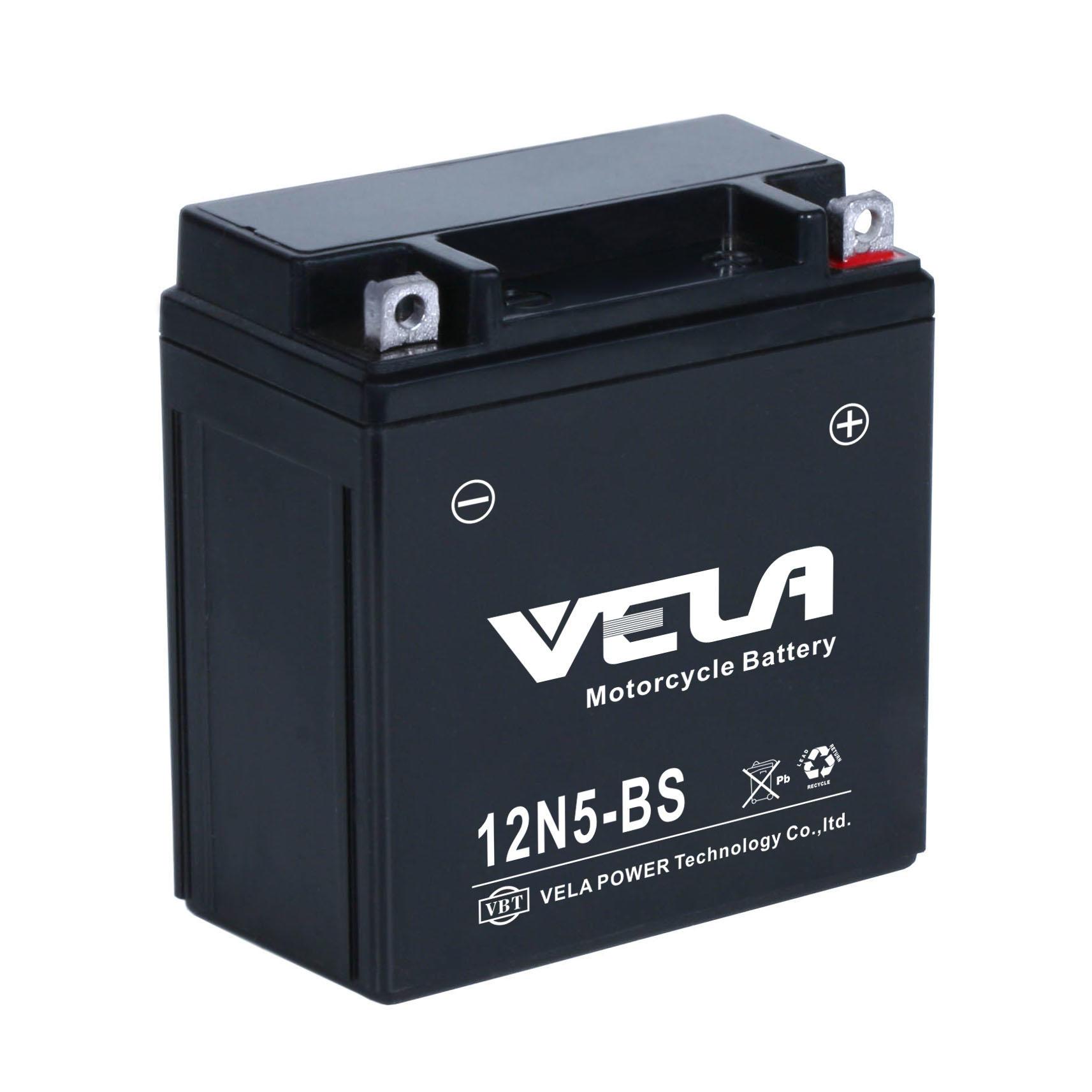 12n5-bs 12v5ah Rechargeable Lead Acid Motorcycle Battery
