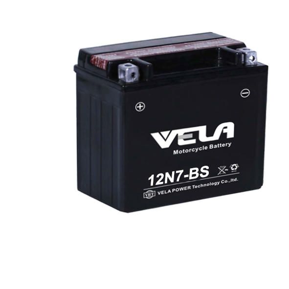 12N7-BS 12v 7Ah lead acid motorcycle battery