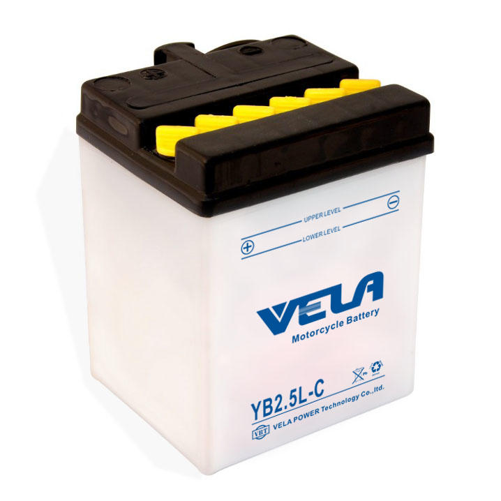 YB2.5L-C 12V 2.5Ah motorcycle batteries