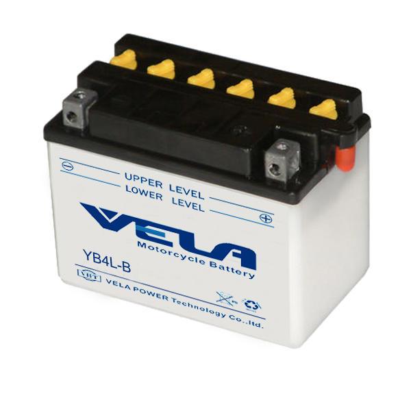 YB4L-B 12V 4Ah conventional motorcycle battery