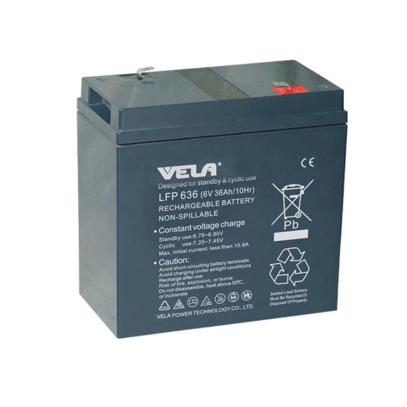 LFP636 6V 36Ah 12v Sealed Lead Acid Rechargeable Battery