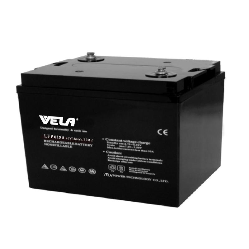 LFP6180 6V 180Ah High Quality AGM Battery