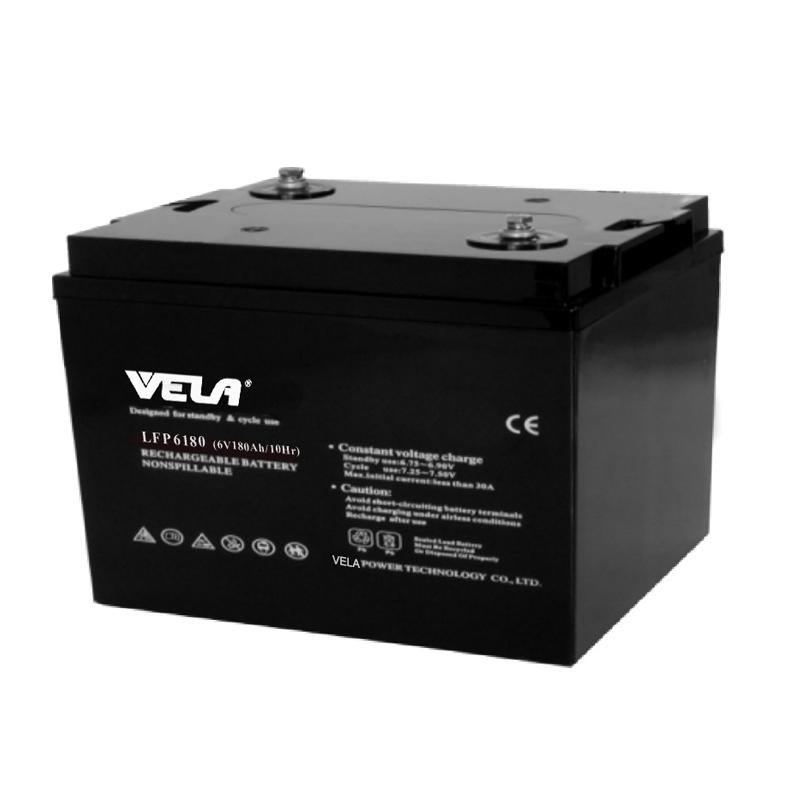 LFP6180 6V 180Ah High Quality AGM Battery