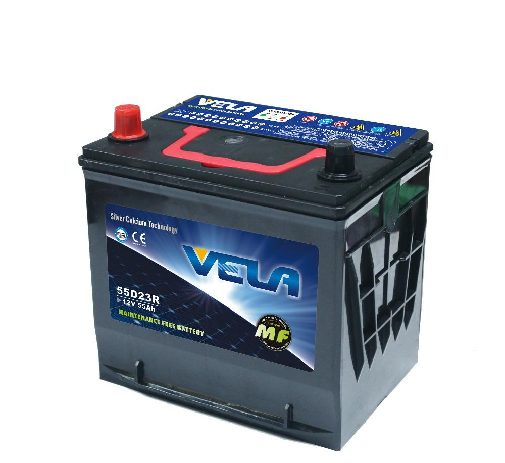 55D23R 12V55AH MF Car Battery Durable