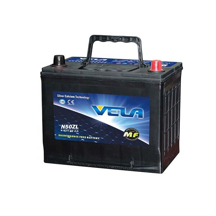 N50ZL 12V60AH MF Car Battery Popular