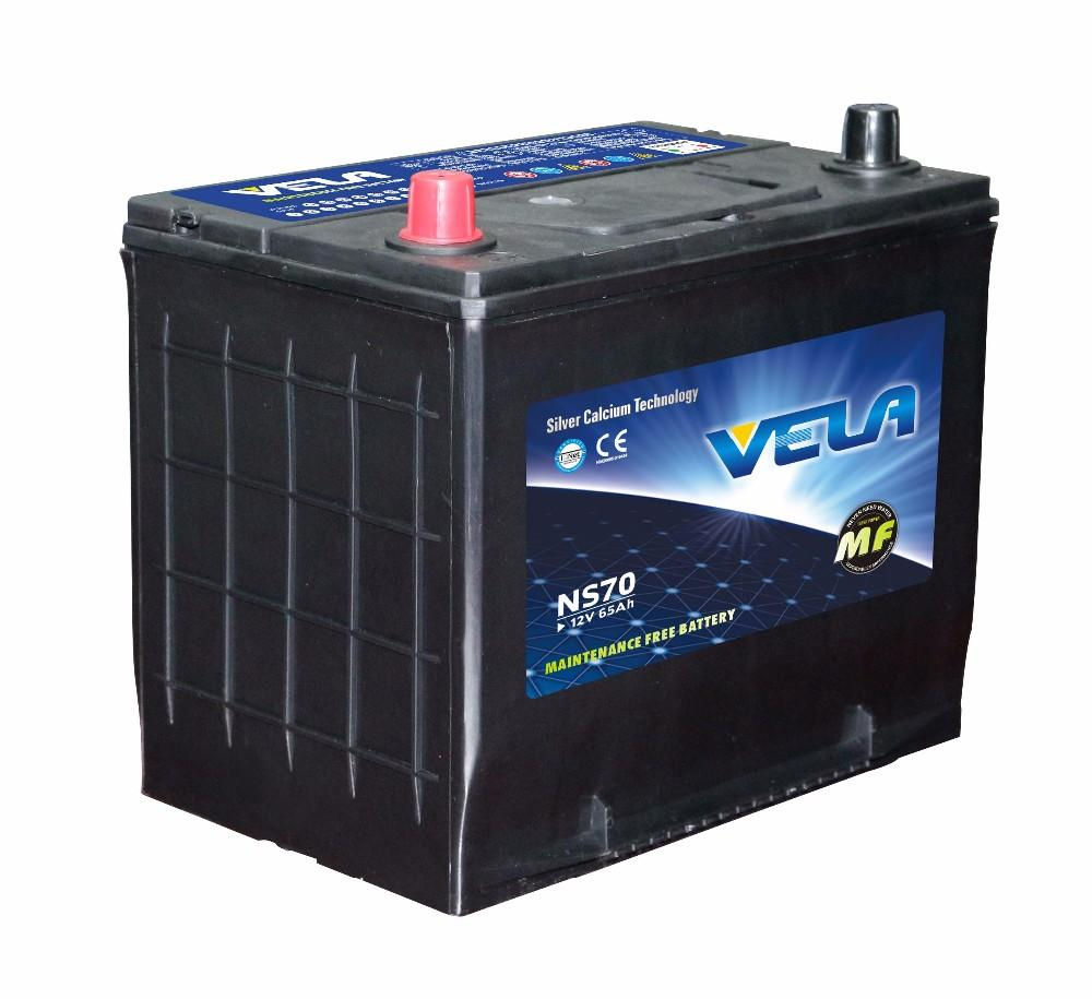 NS70 12V65Ah MF Automotive Battery