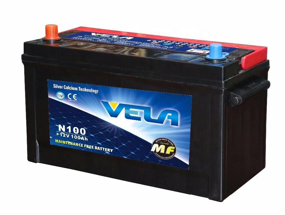 N100 12V100Ah MF Car Battery for TOYOTA