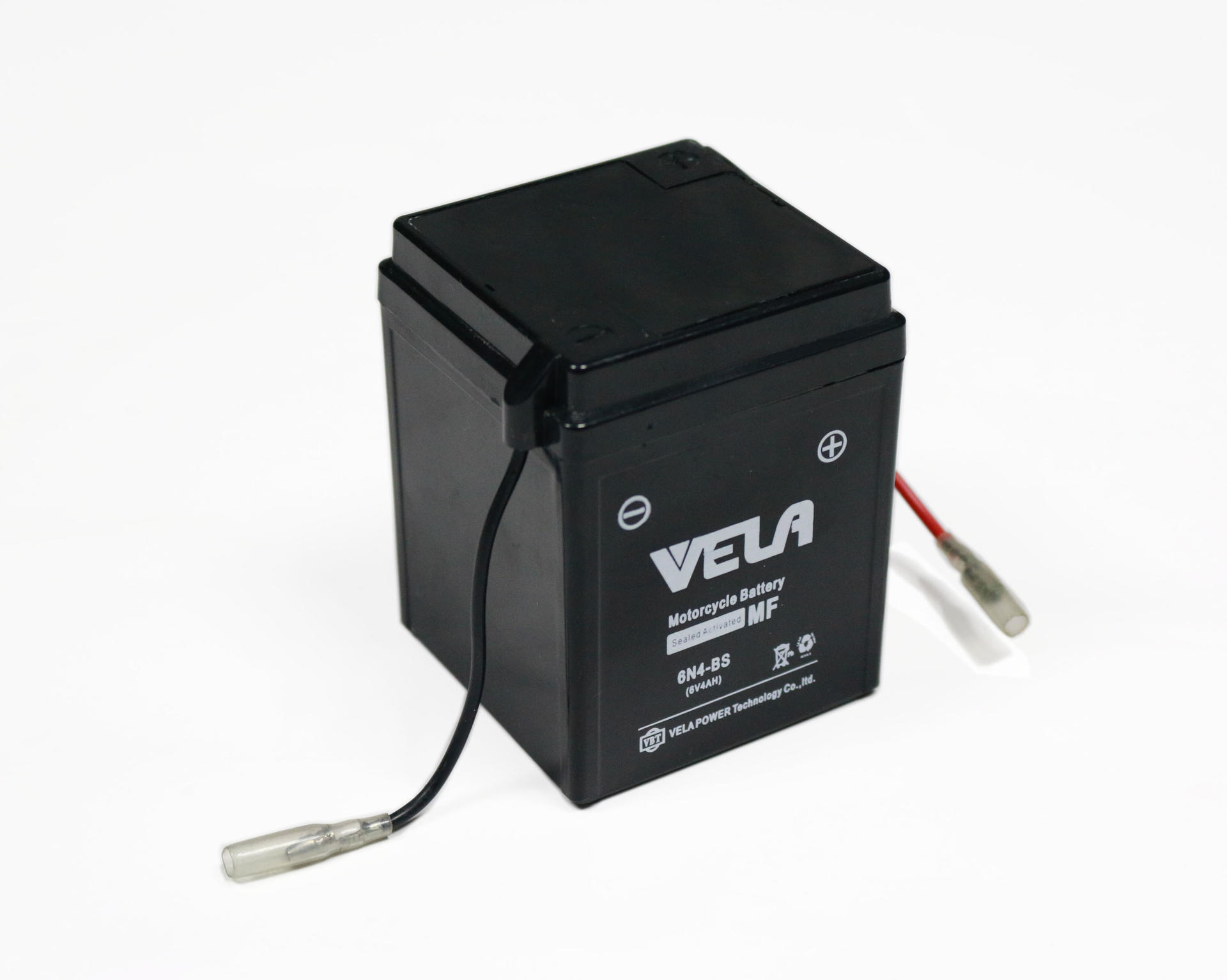 6n4-bs 6 volt 4ah small motorcycle battery with VELA brand