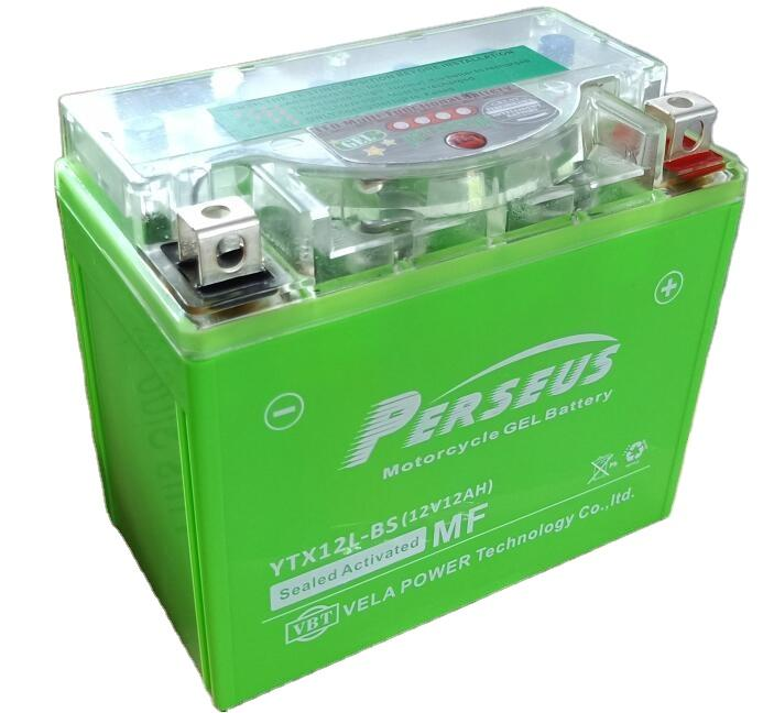 YTX12-BS 12v10ah gel motorcycle battery