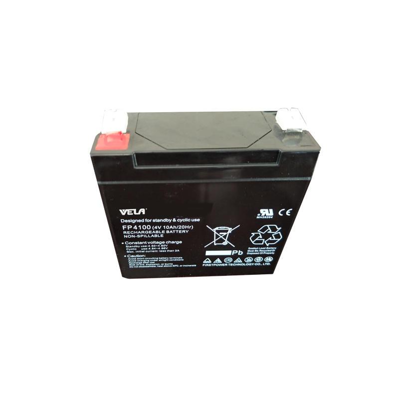 FP4100 4v 10ah UPS battery with lead acid battery maintenance