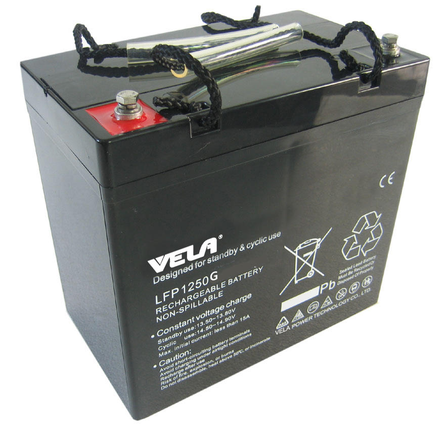 LFP1250G 12V 50Ah Pure GEL Battery