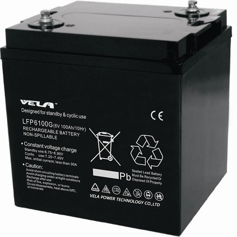 LFP6100G 6V 100Ah 6V Gel Battery