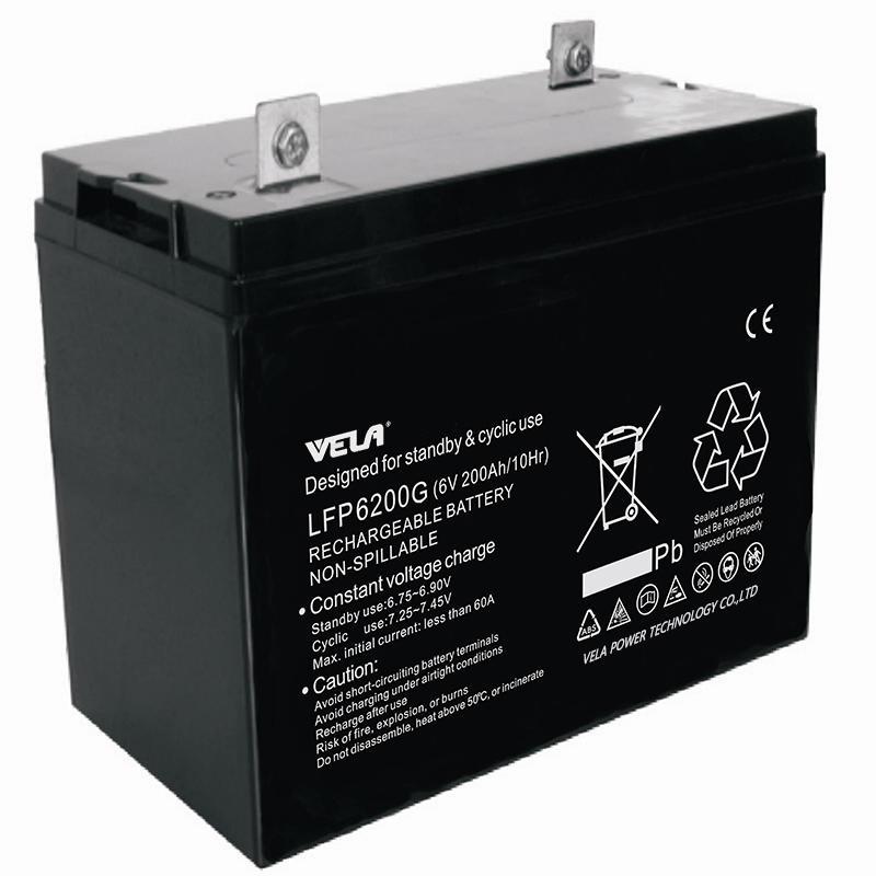 LFP6200G 6V 200Ah Lead Gel Battery